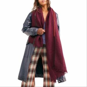 NWT Free People Common Thread Blanket Wrap Scarf